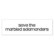 Save the Marbled Salamanders Bumper Bumper Sticker