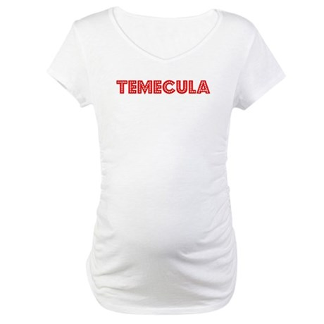 Retro Temecula (Red) Maternity T-Shirt