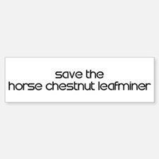 Save the Horse Chestnut Leafm Bumper Bumper Bumper Sticker