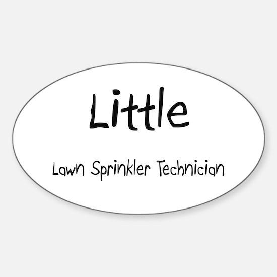 Little Lawn Sprinkler Technician Oval Decal