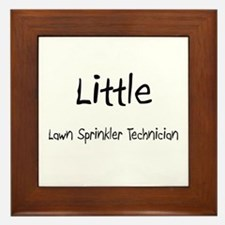 Little Lawn Sprinkler Technician Framed Tile
