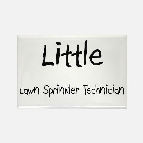 Little Lawn Sprinkler Technician Rectangle Magnet