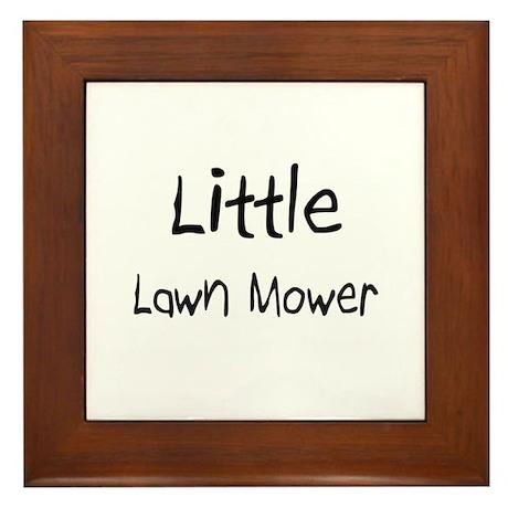 Little Lawn Mower Framed Tile