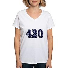 420 Womens V-Neck T-Shirt
