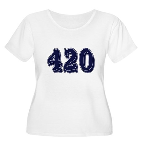 420 Womens Plus-Size Scoop Neck T