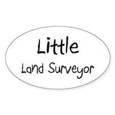 Little Land Surveyor Oval Decal