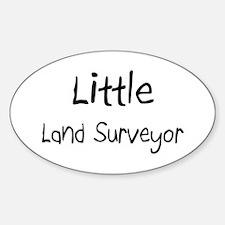 Little Land Surveyor Oval Decal