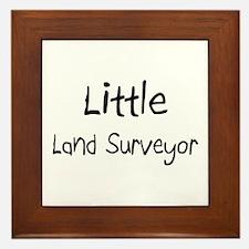Little Land Surveyor Framed Tile