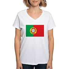 PORTUGAL Womens V-Neck T-Shirt