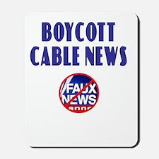 Boycott Cable News Mousepad