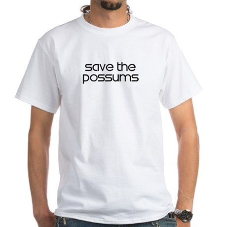 Save the Possums White T-Shirt