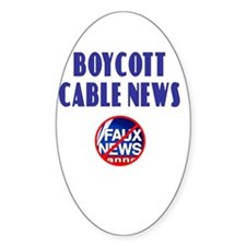 Boycott Cable News Oval Decal