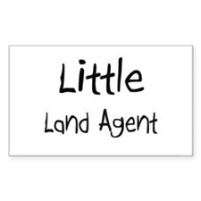 Little Land Agent Rectangle Decal