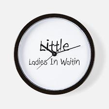 Little Ladies In Waitin Wall Clock