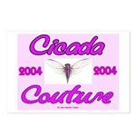 Cicada Couture Pink Postcards (Package of 8)