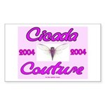 Cicada Couture Pink Rectangle Sticker