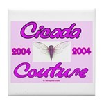 Cicada Couture Pink Tile Coaster