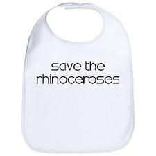 Save the Rhinoceroses Bib