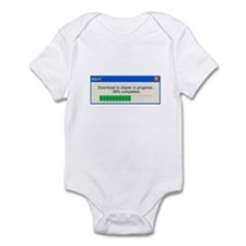 Download to diaper in progress Infant Bodysuit