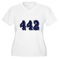442 Womes Plus-Size V-Neck T-Shirt
