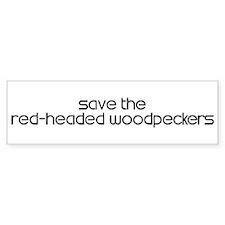 Save the Red-Headed Woodpecke Bumper Bumper Sticker