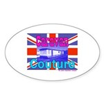 Caravan Couture Oval Sticker