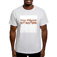 Feed Children not Martians Ash Grey T-Shirt