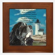 Lord Byron Newf Framed Tile