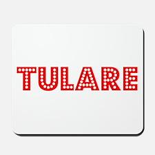 Retro Tulare (Red) Mousepad