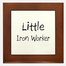 Little Iron Worker Framed Tile