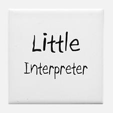 Little Interpreter Tile Coaster