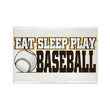 Eat, Sleep, Play Baseball Rectangle Magnet