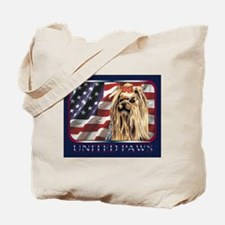 Yorkie Dog Patriotic Flag USA Tote Bag