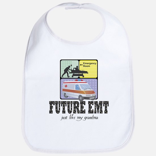 Future EMT Like Grandma Baby Infant Bib