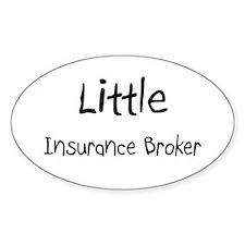 Little Insurance Broker Oval Decal