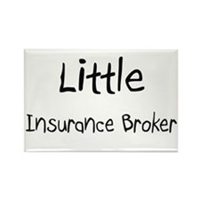 Little Insurance Broker Rectangle Magnet