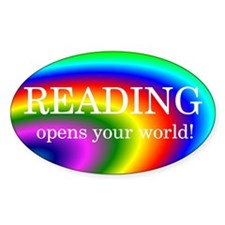 Reading World Oval Decal