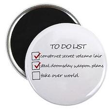Supervillain To Do List Magnet