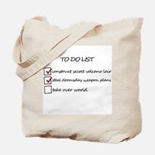 Supervillain To Do List Tote Bag