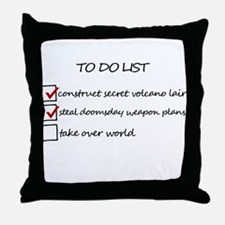 Supervillain To Do List Throw Pillow