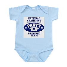 """Party U/National Champions"" Infant Creeper"