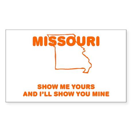 Missouri Show Me Rectangle Sticker