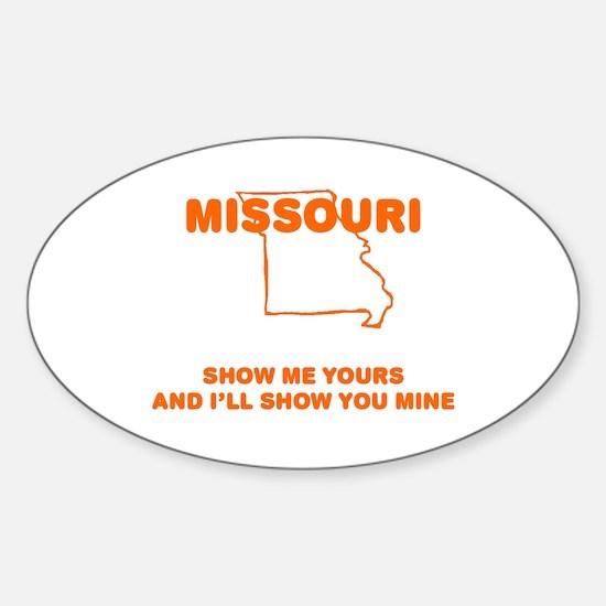 Missouri Show Me Oval Decal