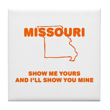 Missouri Show Me Tile Coaster
