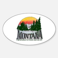 Cold Montana Oval Decal