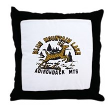 Blue Mountain Adirondacks Throw Pillow