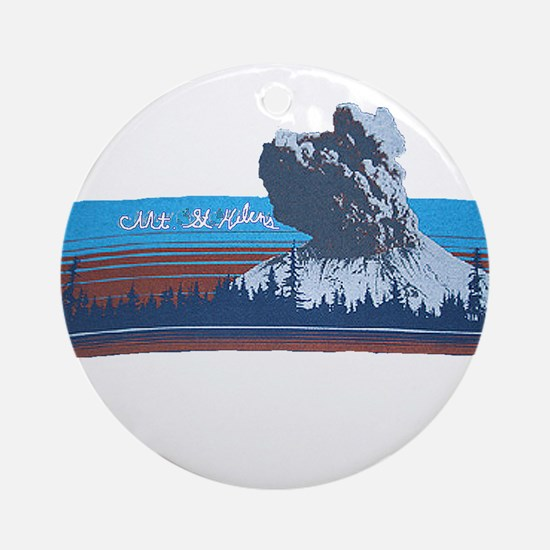 Mt. St Helens Ornament (Round)
