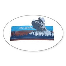 Mt. St Helens Oval Decal