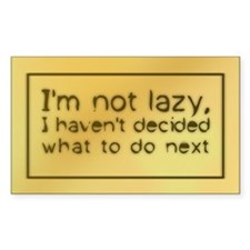 I'm Not Lazy Rectangle Decal