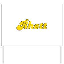Retro Rhett (Gold) Yard Sign